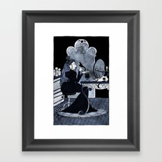 lonely witch Framed Art Print