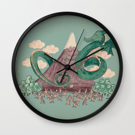 The Not-So-Lonely Mountain Wall Clock