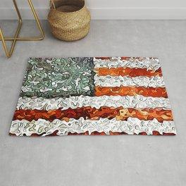 American Flag Abstract Rug