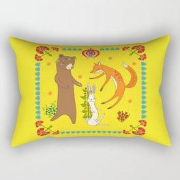 Forest Dance Party Rectangular Pillow