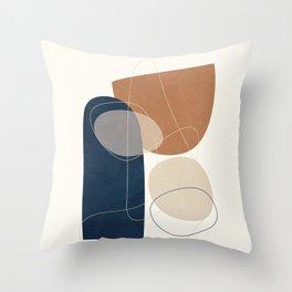 Spiraling Geometry 1 Throw Pillow