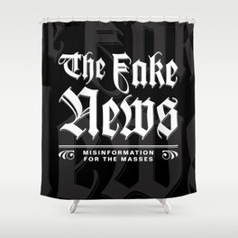 The Fake News Header Shower Curtain