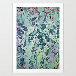 Sunken Forest marbleized print Art Print