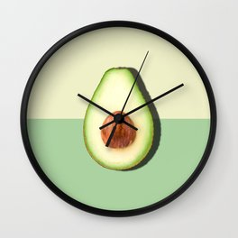 Avocado Half Slice Wall Clock