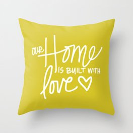 Home Built With Love Throw Pillow