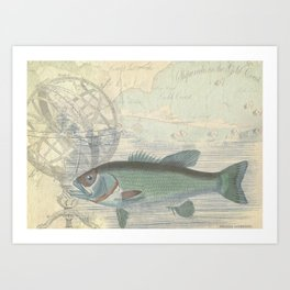 Great Lakes Lodge Collage Art Print