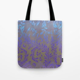 Ombre Damask Purple and Blue Tote Bag