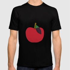 Apple 02 MEDIUM Black Mens Fitted Tee