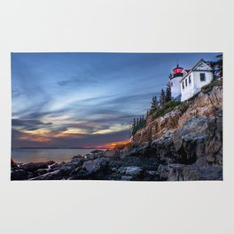Bass Harbor Light in Acadia National Park Rug