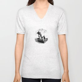Ghostly Wreck Unisex V-Neck