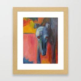 Noble Greyhound Framed Art Print
