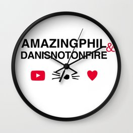 Amazingphil and danisnotonfire Wall Clock