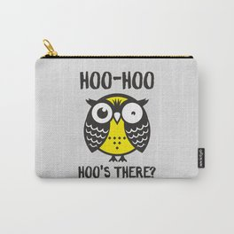 Owl. Hoo-hoo... hoo's there? Carry-All Pouch