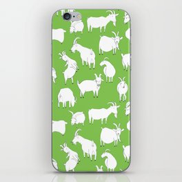 Green Goats iPhone Skin
