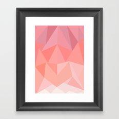 Pink Triangles  Framed Art Print