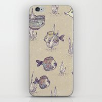 swimming iPhone & iPod Skins featuring swimming by Lidija Paradinović Nagulov - Celandine