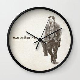 The Man Guitar Cat Wall Clock