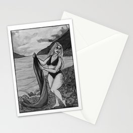 The Selkie's Afternoon Swim Stationery Cards