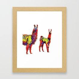 Electric Llamas Framed Art Print