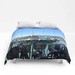 Boats and bicycles Comforters