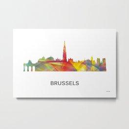 Brussels Germany Skyline WB1 Metal Print