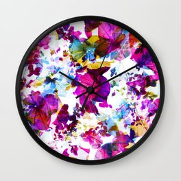 X-Ray Blooms Wall Clock