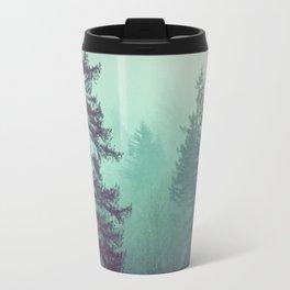 Forest Fog Fir Trees Travel Mug