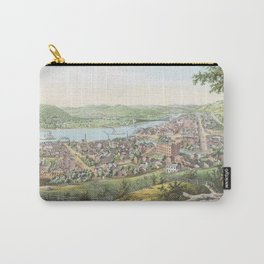Vintage Pictorial Map of Wheeling WV (1854) Carry-All Pouch