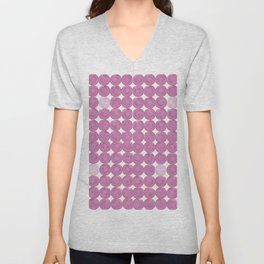 Pinker dot dot pink dot small Unisex V-Neck