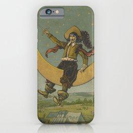 Cyrano de Bergerac on the moon iPhone Case