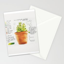 Mini Jade Succulent Stationery Cards