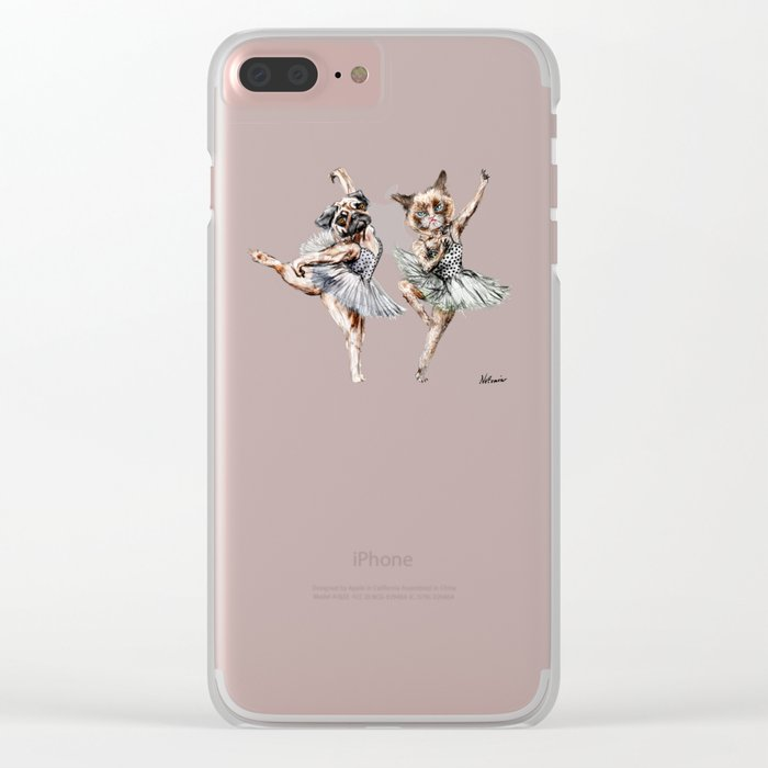 Hipster Ballerinas - Dog Cat Dancers Clear iPhone Case
