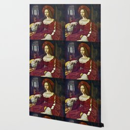 Joanna of Aragon by Raphael Wallpaper