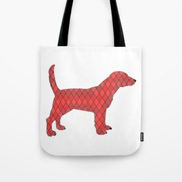 Red beagle Tote Bag