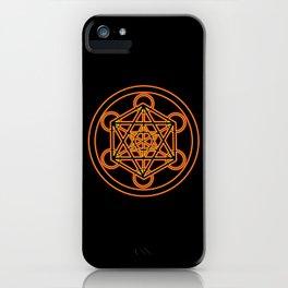 Metatron Red Gold iPhone Case