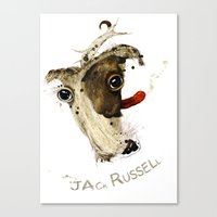 jack russell Canvas Prints featuring Jack Russell by ari-s