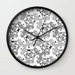 Geometric Mozaik (b&w) Wall Clock