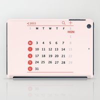 calendar iPad Cases featuring our calendar by Florence Yu