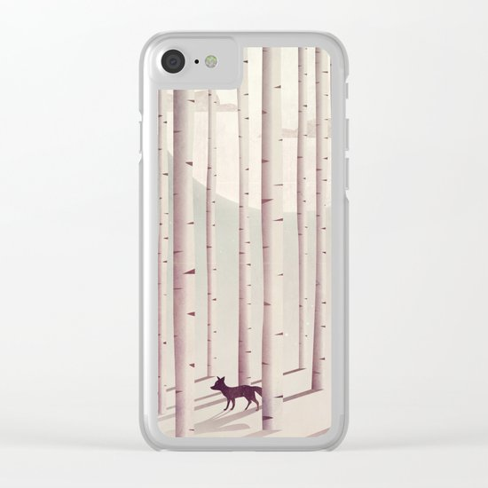 Serene Forest Clear iPhone Case