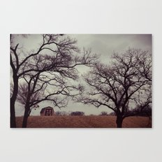Lonely Barn. Canvas Print