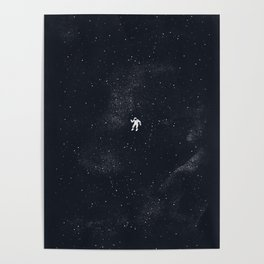 Gravity - Dark Blue Poster