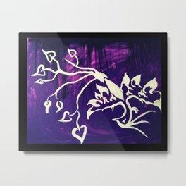 Purple Phoenix Metal Print