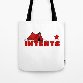 Camping Is Intents Funny Camper Camping Puns Tote Bag