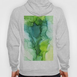 Spring Greens Abstract Landscape Hoody