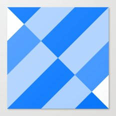 Angled Blue Canvas Print