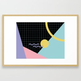 Memphis Pattern 7 - 80s - 90s - Retro Framed Art Print