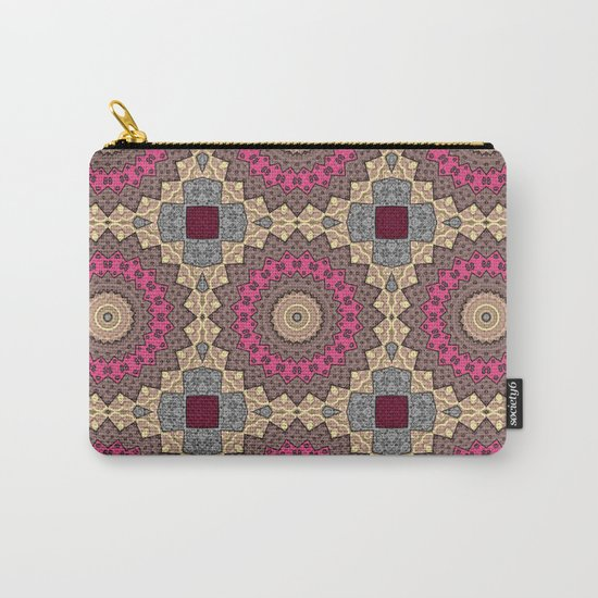 Lazy patchwork . Abstraction . Carry-All Pouch