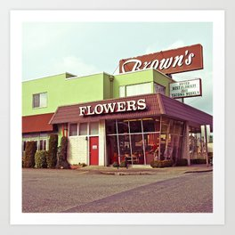 Nostalgic flower shop Art Print