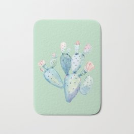 Rose Desert Cactus Light Mint Green by Nature Magick Bath Mat