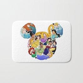 Princess Mickey Ears Bath Mat
